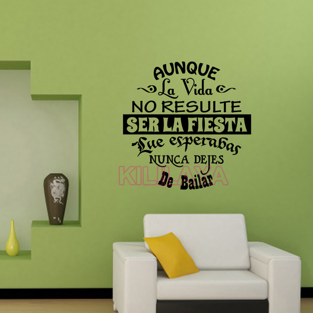 vinyl wall stickers spanish quotes letterings wall decals art