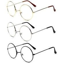 928674ce13 Montura de Metal Retro de la vendimia de la manera gafas transparentes de  la lente del friki de los anteojos de los ojos del cír.