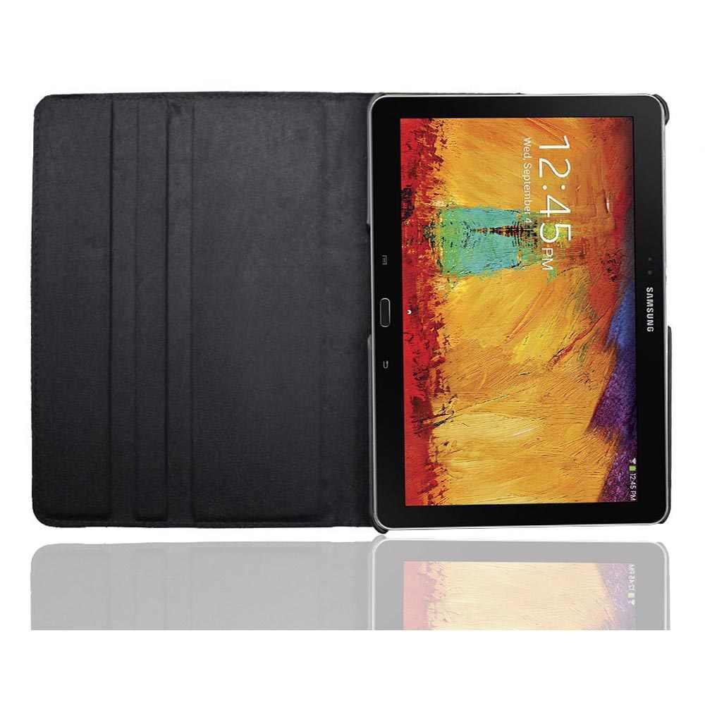 SM P600 P601 P605 berputar 360 book cover kasus untuk Samsung Galaxy Note 10.1 (2014 edisi) kasus Tab 10.1 Pro T520 T521 T525