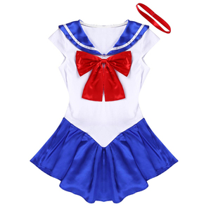 Image 4 - High Quality Japan Sailor Moon Cosplay Costume Moon Dress For Adult Fancy Halloween Fancy Sexy Carnival Costume Dress