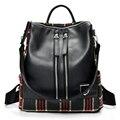 2017 New Backpack Feminine Geometric Patchwork Bag Plaid Female Backpacks for Teenage Girls Bagpack Drawstring Bag Mochila