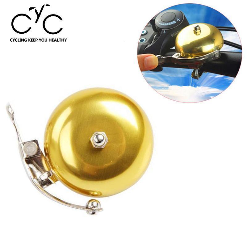 EYCI Gold Retro Metal Bike Ring Bicycle MTB Handlebar Mechanical Bell Sound Alarm Loud Bicycle Accessories