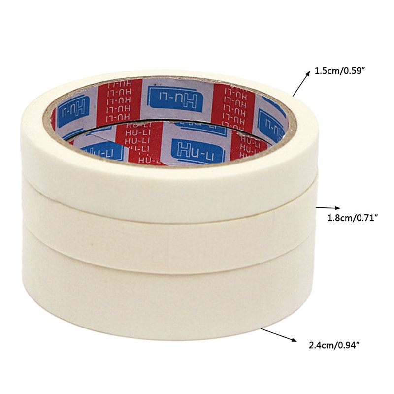 Masking Tape 15/18/24mm Single Side Tape Adhesive Crepe Paper For Oil Painting-washi Tape