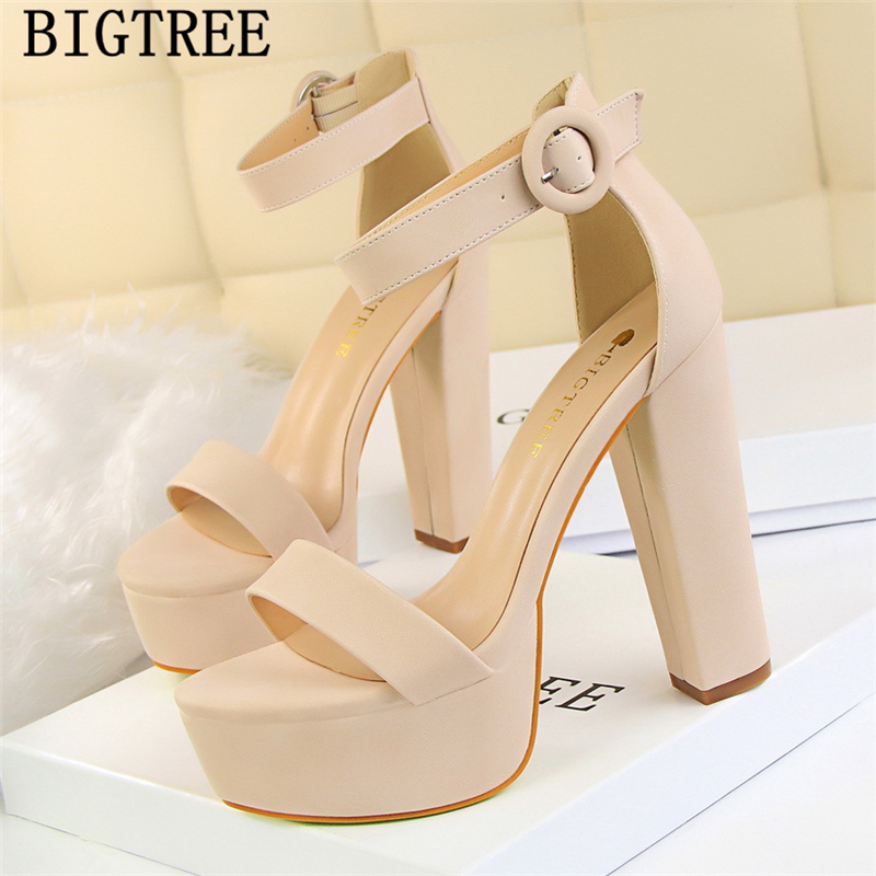 df3f079fdd6 mary Jane shoes thick heel platform sandals women high heels sandals women  bigtree shoes 2019 sexy sandals extreme high heels