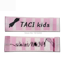free shipping customize clothing satin woven labels/garment dress collar label/main label/embroidered tag/brand 1000 pcs a lot