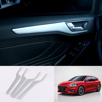 For Ford Focus 2019 Car Door Interior Decoration Cover Trim 4pcs Car Styling