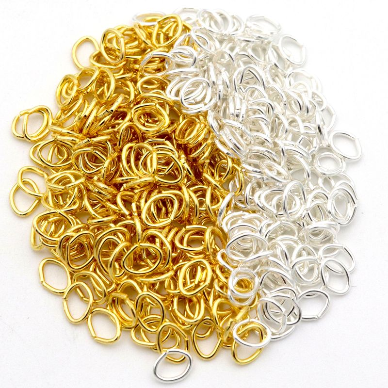500pcs 5x4mm Mixed Gold Silver Color Oval Metal Open Link Jump Split Rings For Jewelry Making Diy Bracelet Necklace Accessories