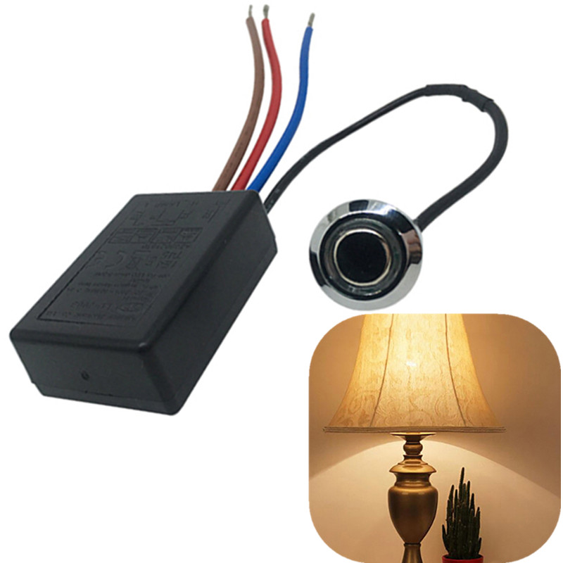 US/EU 0.3A/0.8A LD-600S Build-in 3 Way Finger Touch Dimmer ON/OFF Switch US EU 220V-240V 20W-150W