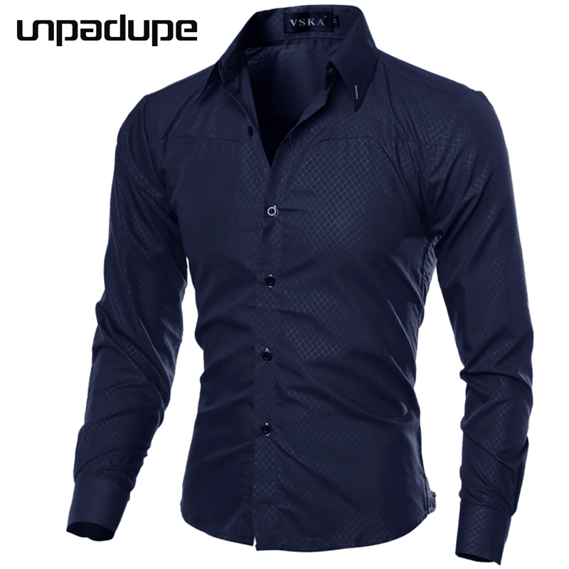 Unpadupe 2018 Casual Shirts Men Fashion Long Sleeve Plaid Shirt Camisa Masculina Men Shirt Solid Color Shirt Male Brand Clothing-in Casual Shirts from Men's Clothing on AliExpress - 11.11_Double 11_Singles' Day 1