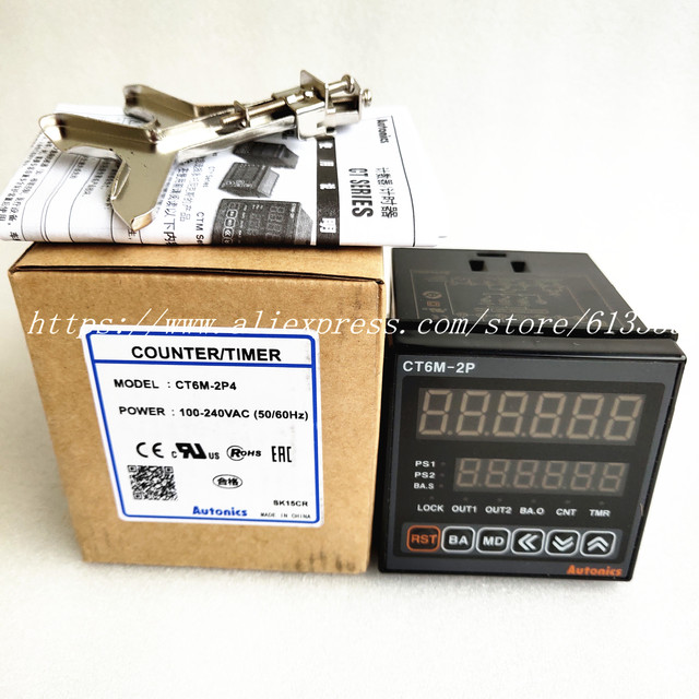 CT6M 2P4 (CT6 2P) 100 240VAC (50 60Hz) Nieuwe Originele Echte Multifunctionele Timer Teller