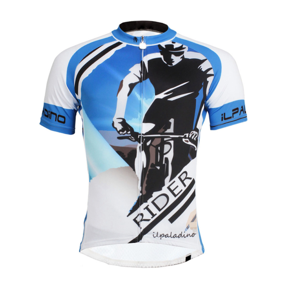 Riding Pattern Men Blue Summer Short Sleeve Cycling Jerse Breathable Bike  Apparel Crewneck Ropa Ciclismo Hombre 074a6c59f