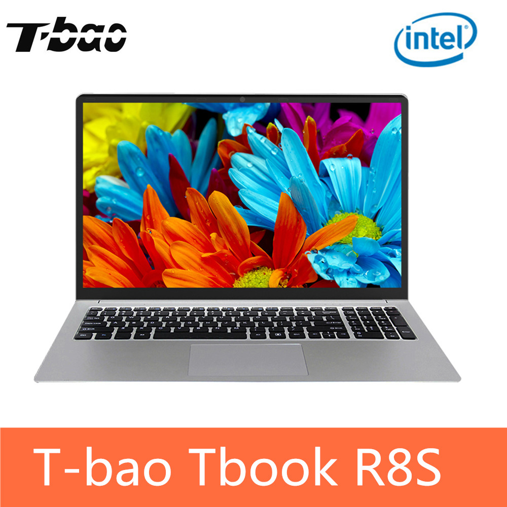 T-bao Tbook R8S Ordinateur Portable PC 15.6 ''Windows 10 Intel Celeron N3450 Quad Core 1.1 ghz 6 gb 128 gb SSD HDMI Caméra PK T-bao R8