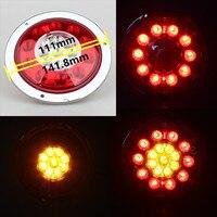 MZORANGE רכב טבעת פלדה עגולה 12-24 V 19 LED רכב צד LED מנורת אור בלם עצור הפעל זנב לטריילר משאית משאית אור אל חלד