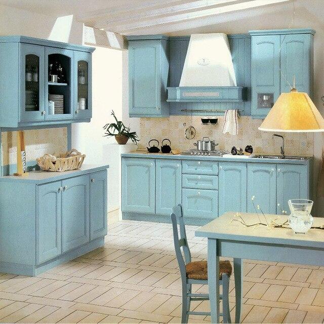 Blu di legno da cucina shaker cucina in stile in Blu di legno da ...