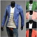 New Arrival Single Button Leisure Blazers Men Male 2015 Fashion Slim Fit Casual Suit Red Navy Blue Blazer Dress Clothing M-XXL