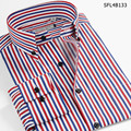 Smart Five Striped Shirts Men Long Sleeve Cotton Slim Fit Casual Shirt Imported Clothing Camisa Masculina 5XL 6XL
