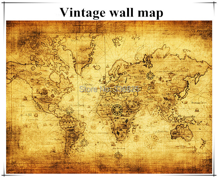 World of map for wall vintage map small size wall sticker old style world of map for wall vintage map small size wall sticker old style wall map oil painting plat 1 piece map in wall stickers from home garden on gumiabroncs Choice Image