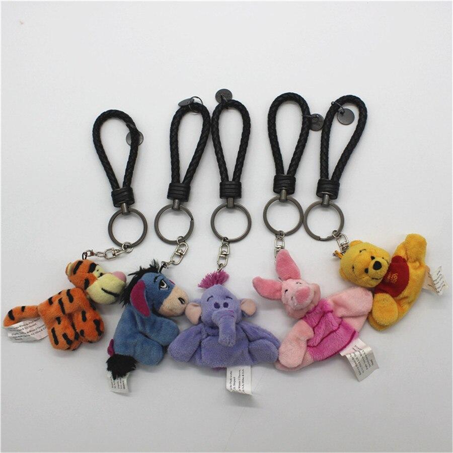 10piece 6 8cm cute bear Tigger Tiger Piglet Pig Eeyore Donkey Heffalump cute Keychain plush toys