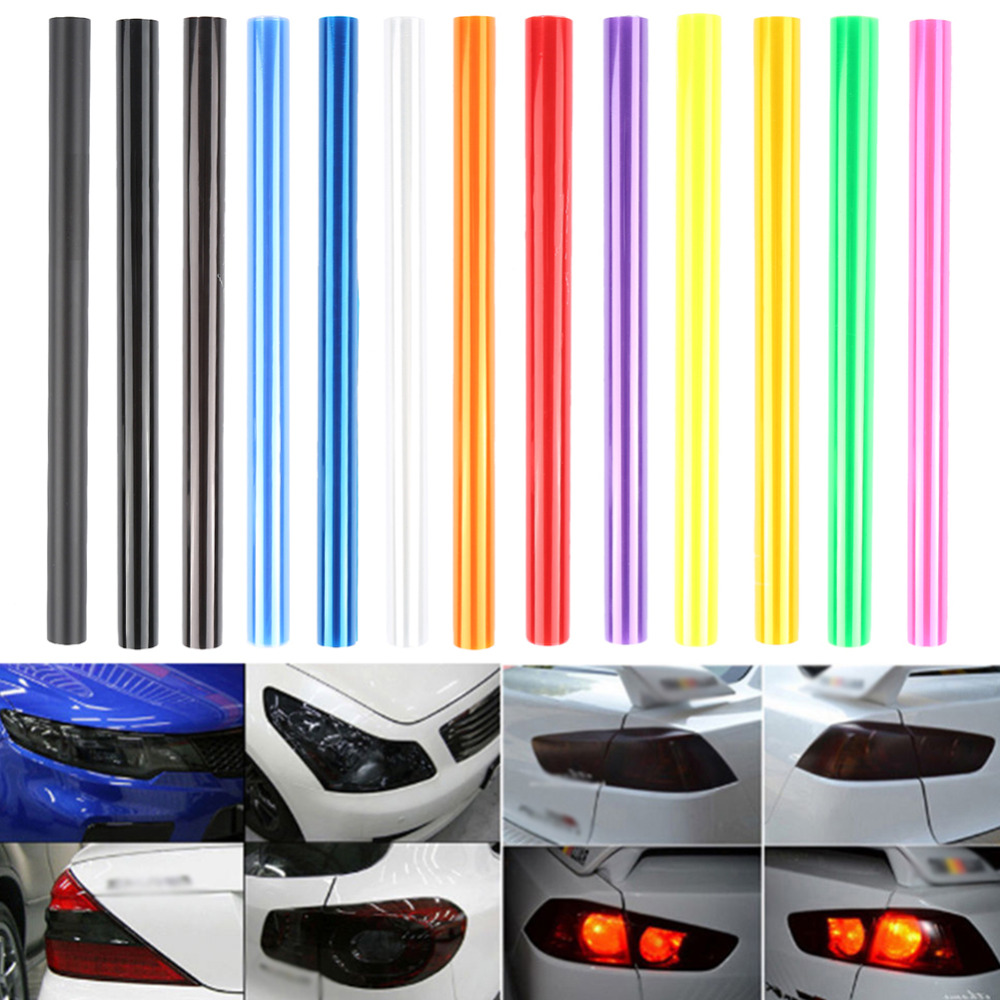30*60cm Shiny Chameleon Car Styling Headlights Taillights Vinyl Color Film Lights Turned Change Color Car Film Stickers 1PC