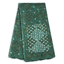 High Quality Sequin Glitter African Fabric Embroidered Luxury Evening Dress Womens Lace Sewing Handcut French Tulle
