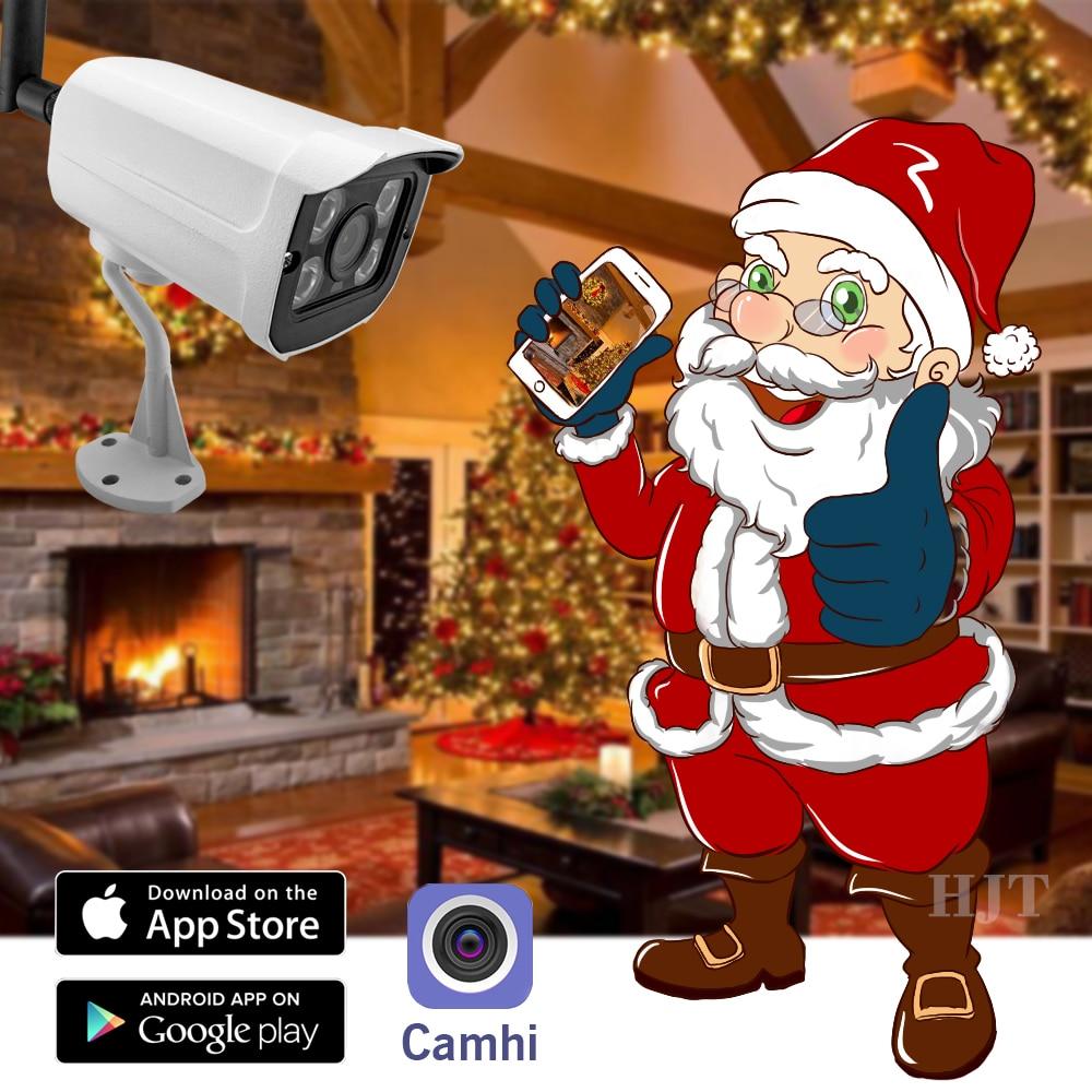 HJT Wireless Wifi IP Camera 1080P 2 0MP SD Card Sony IMX323 Network Onvif  Outdoor Security 4IR Night Vision Surveilence wifi cam