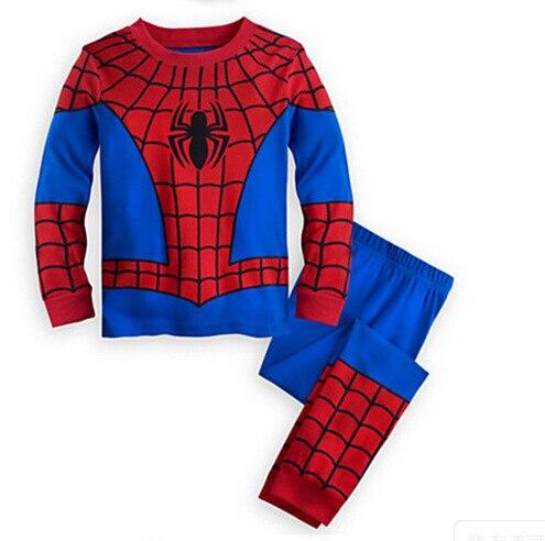 Multicolor 2017 Children Clothing <font><b>Spiderman</b></font> Girls Cloth Children Home Furnishing Suit <font><b>Mask</b></font> Cloak 2PCS <font><b>Shirt</b></font> Pant Boys Clothes