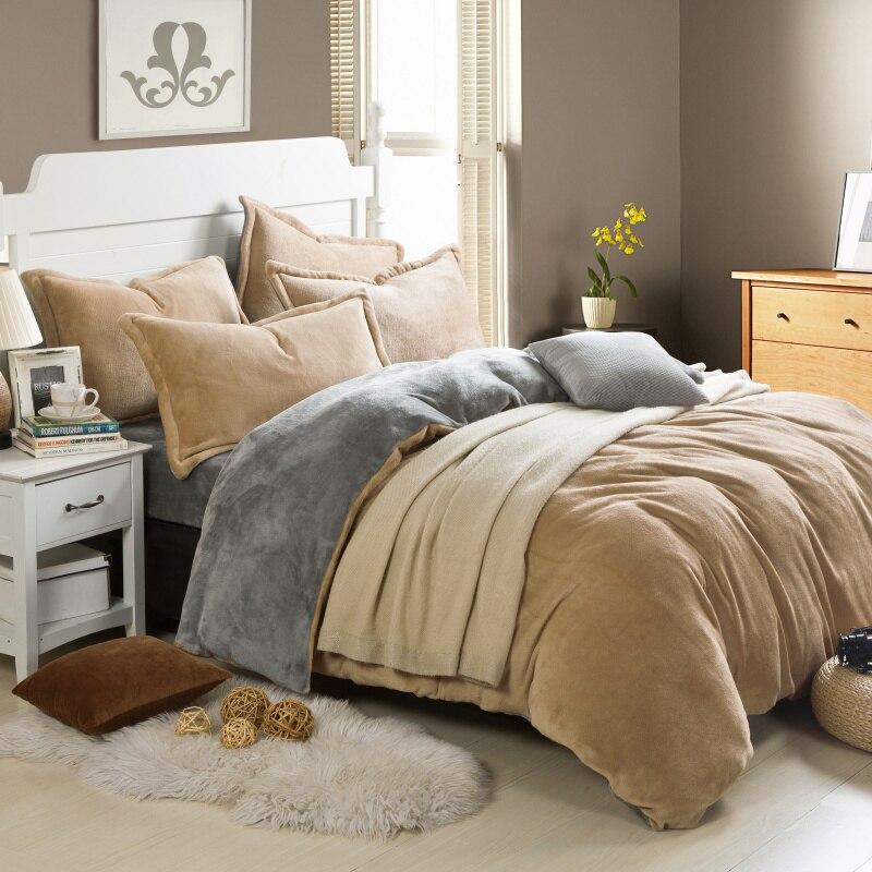 Nice Winner Fleece Bedding Set Velvet Bed Linen Set Pure Color Set Warm  Bedclothes Bedspread Duvet Cover Bed Sheet Pillowcase 4pcs In Bedding Sets  From Home ...