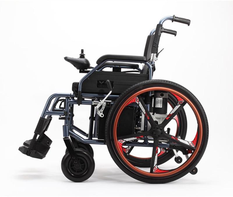 Hospital casa discapacitados ligero portátil plegable silla de ruedas eléctrica