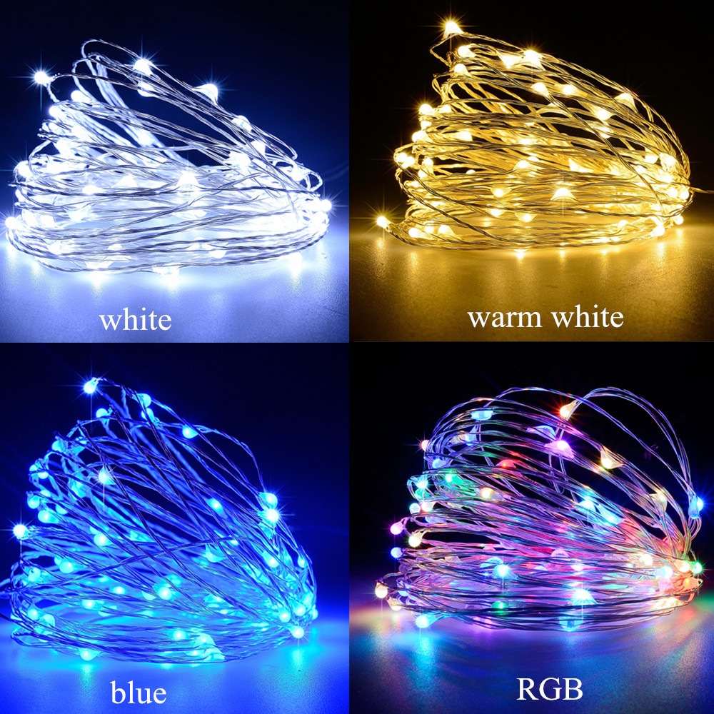 cooper wire light string leds christams lights holiday lighting outdoor