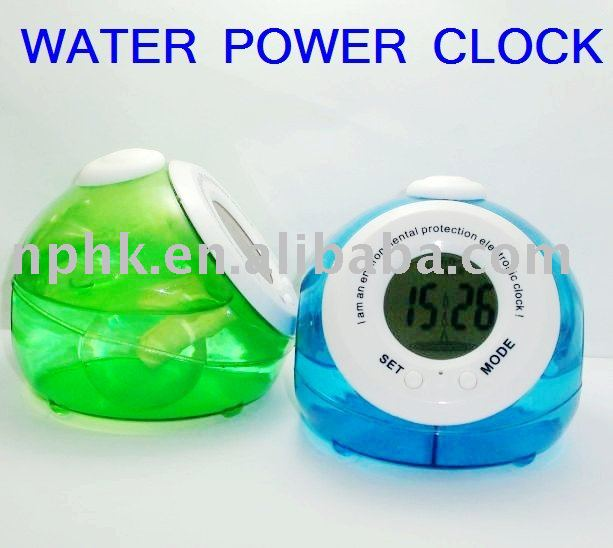 Water power clock np 087n teenagers innovative products for Innovative home products