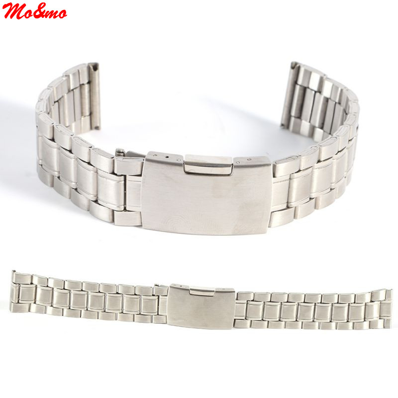Hot Leisure Watchbands Stainless Steel Watch Band Strap Straight Snaps Bracelet 18mm 20mm 22mm stainless steel watch band 18mm 20mm 22mm for baume