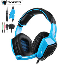 SADES SA920 PS4 Headset Gamer Game Earphones Gaming Headphones With Microphone for Xbox One/Xbox 360/TV/Tablet/iPad/Cell Phones
