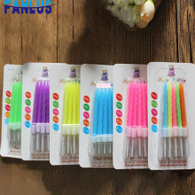 10pcs/lot Coloful Birthday Candles Birthday Party Candle Cake Decorations Baby Shower Boy Girl First Birthday Party For Kids Dec
