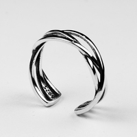 925 Sterling Silver Braided Ring