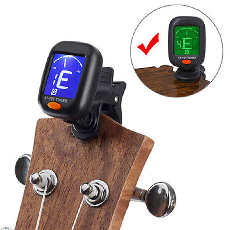 Metronome Black Automatic Sound Correction Backlight Bass Clip Tuner Durable Guitar Ukulele Violin Tool Band