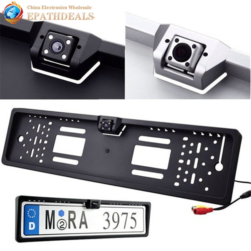 Waterproof European License Plate Frame Rear View Camera Auto Car Reverse Backup Parking Rearview Camera Night