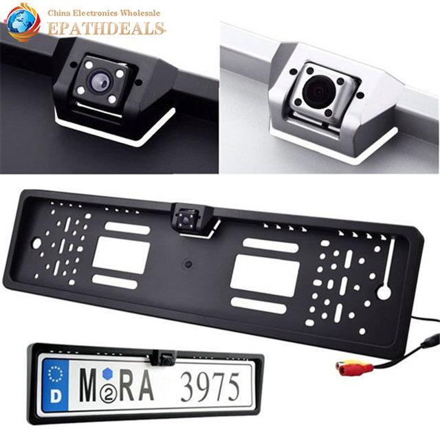 Waterproof European License Plate Frame Rear View Camera Auto Car ...