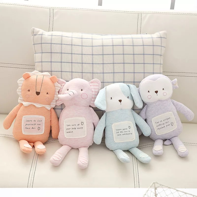 4 color soft elephants stuffed plush toys doll 38cm plush pillow baby sleeping appease toy for children Xmas birthday gifts