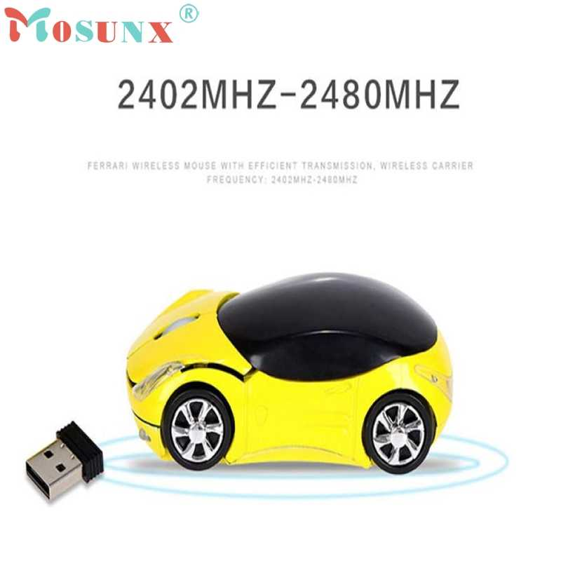 Mouse Raton 2.4GHz 1200DPI Car Shape Wireless Optical Mouse USB Scroll Mice Computer Professional For PC Laptop 18Aug2
