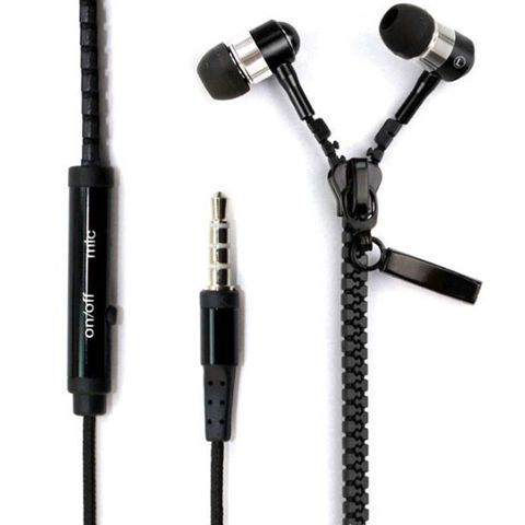 TenYua Zipper 3.5mm In-Ear Earbuds Earphone Headset Headphone For iPhone Samsung Lahore