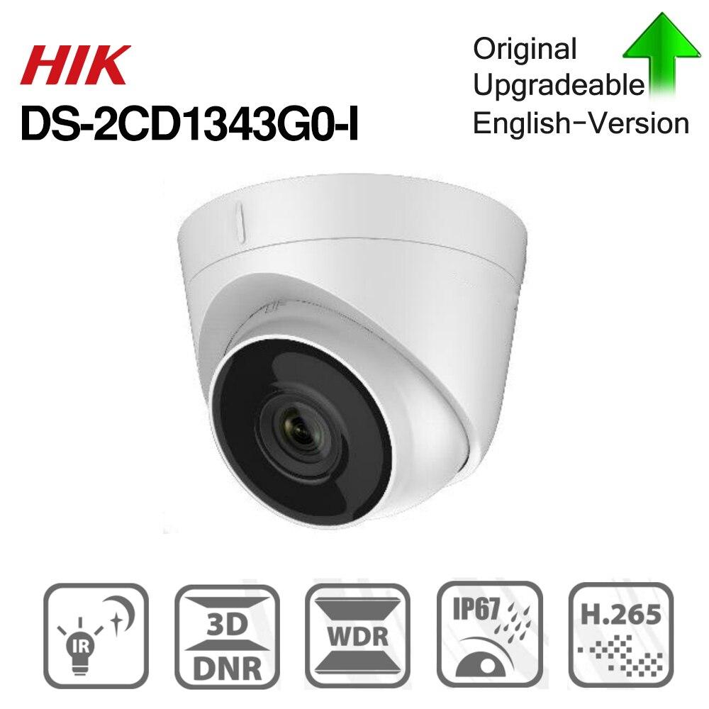 Hikvision DS-2CD1343G0-I POE kamera wideo nadzór 4MP IR sieć kamera kopułkowa 30M IR IP67 H.265 + 3D DNR