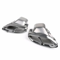 Car Dual Exhaust Pipes Tail Muffler Tips For Benz W212 2014 2015 2016 Silver New Arrival