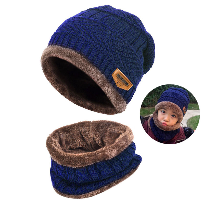 Warm Knitted Hat and Circle Scarf (31)