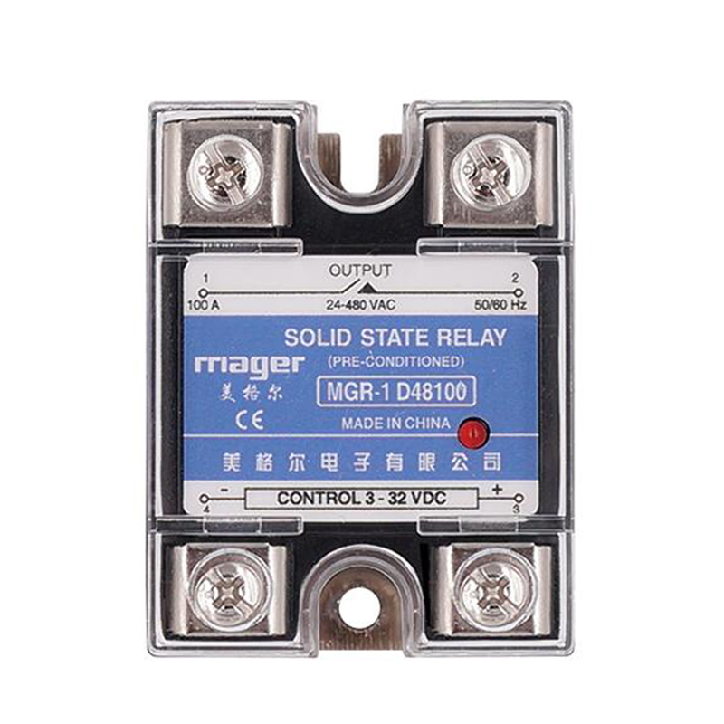 Smart Home Relay Power Accessories SSR 100A Single Phase Solid State Relay DC Control AC MGR-1 D48100 Load Voltage 24-480V