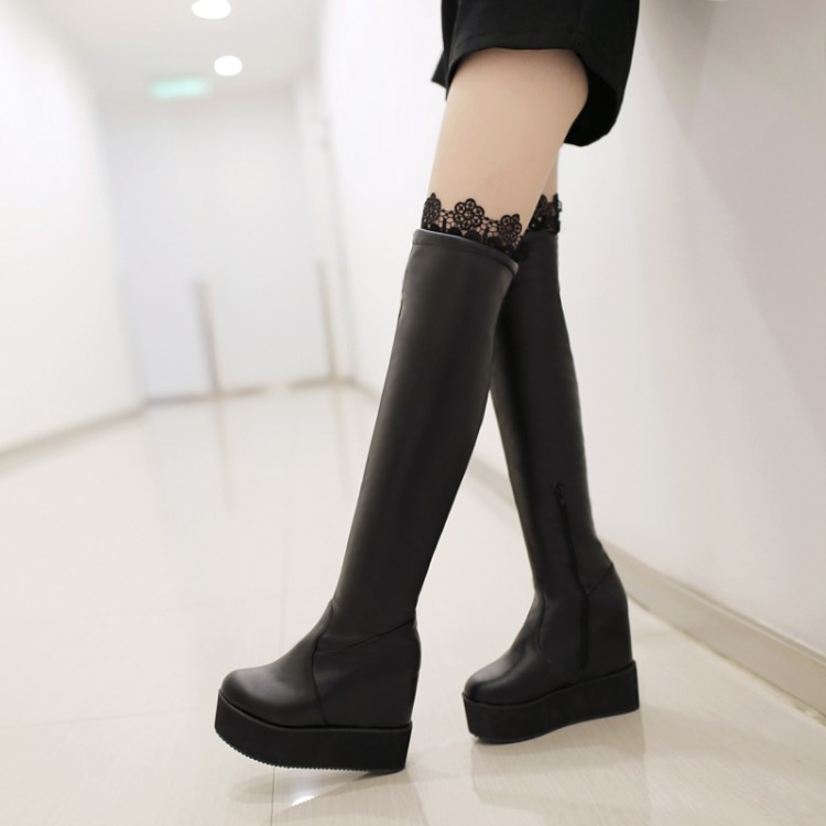 ФОТО Mm customize big drum paltform 30 - 33 small yards boots knee-length boots 40 - 50 plus size boots female boots free shipping