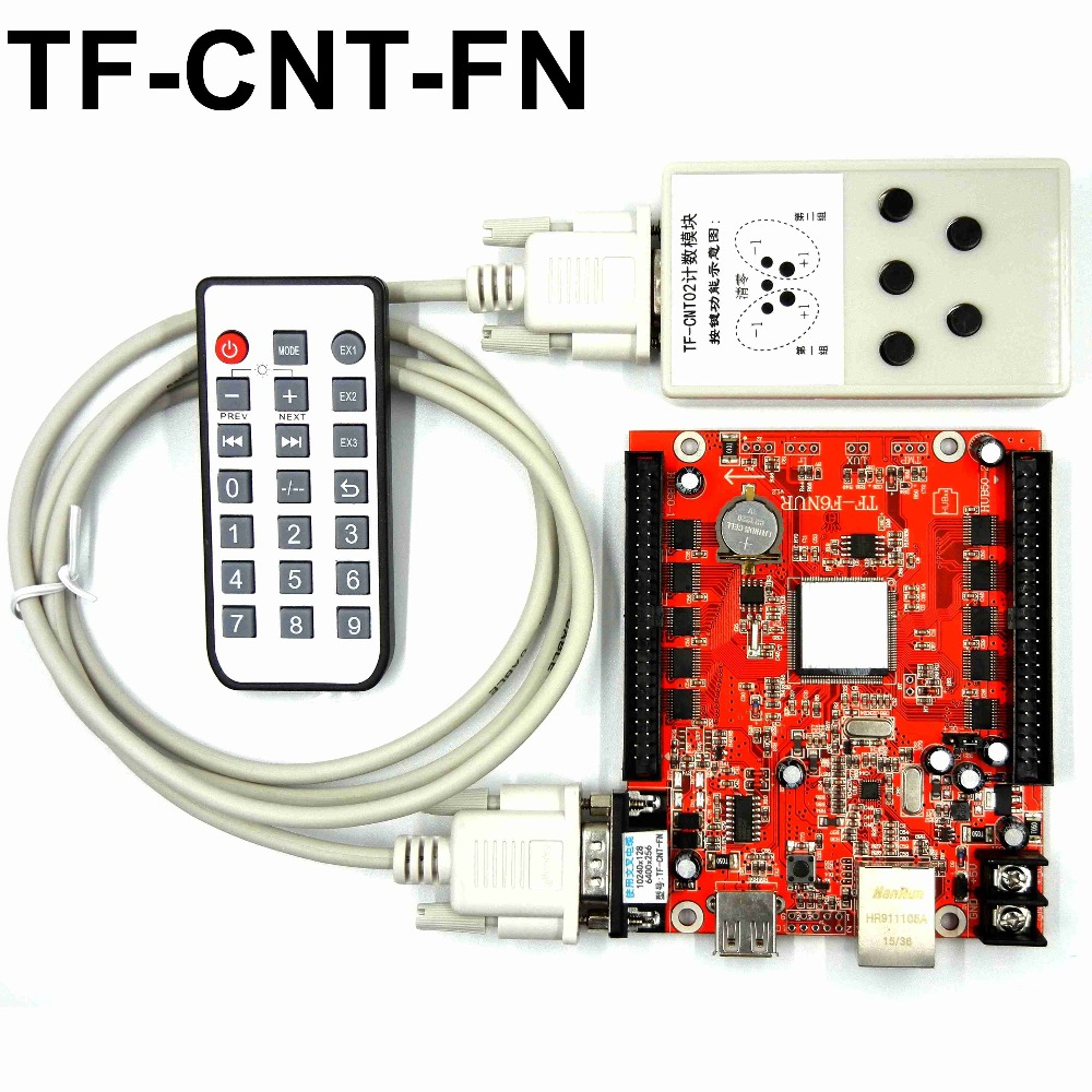 TF-CNT-FN Counting game display dedicated LED control card for sports scores, count screen board led controller systemTF-CNT-FN Counting game display dedicated LED control card for sports scores, count screen board led controller system