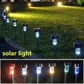 3 шт. солнечная светодиодные лампы путь уличные фонари Из Нержавеющей стали солнечный свет сада водонепроницаемый наружного освещения