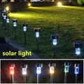3pcs led solar lamp path street lights Stainless steel solar light garden decoration waterproof outdoor lighting