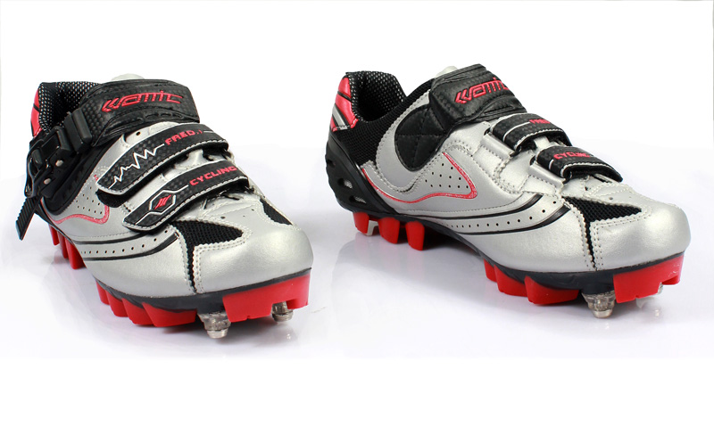 Santic Mens Bicycle Shoes For Mountain Bike Racing Athletic Shoes Mtb Cycling Shoes Nylon Fibreglass Soles With Clips Velcro In Cycling Shoes From Sports