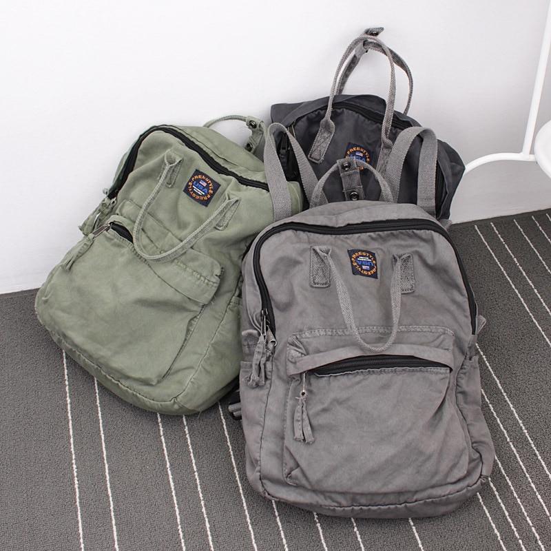 2018 Street Art Literary Canvas Backpack Minimalist Retro Backpack Wild Leisure Korean Schoolbag Bag